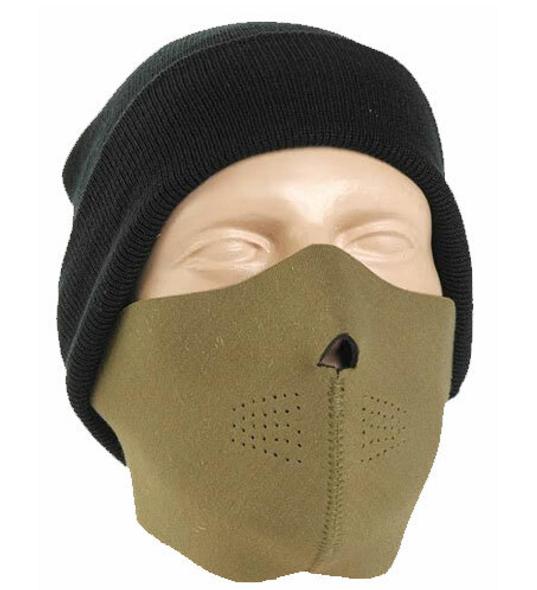 Coyote Tan Neoprene Half Face Mask - Motorcycle Mask - FMY10-HI