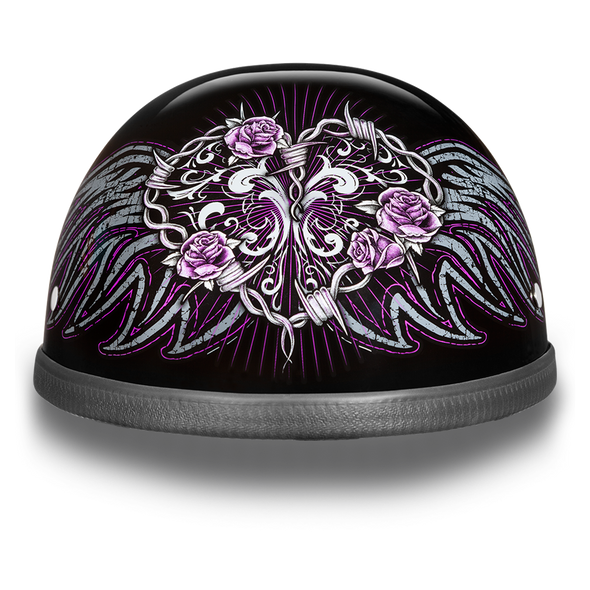 Daytona Eagle With Barbed Wire Heart - Novelty Motorcycle Helmet - SKU 6002BWH-DH