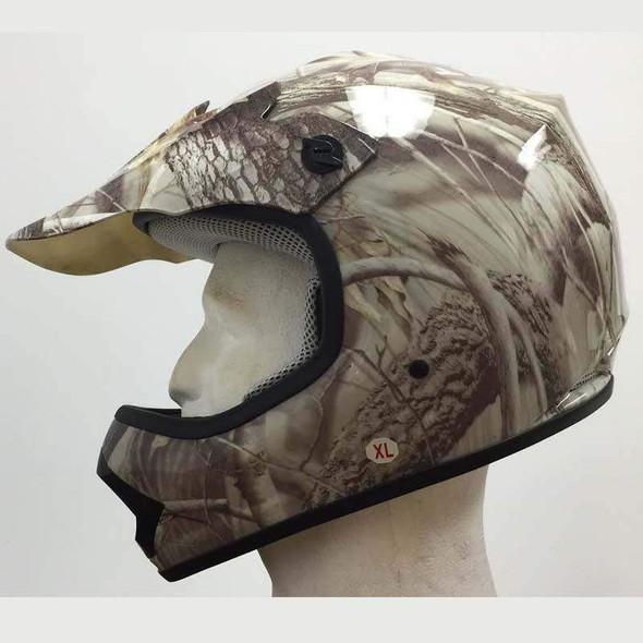 DOT Kids ATV Helmet - Dirt Bike - Motocross - Camo Leaf - DOTATVKIDS-CAMOLEAF-HI