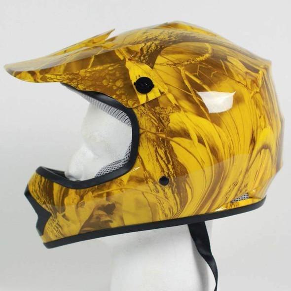 DOT ATV Youth Helmet - ATV - Maple Camo - DOTATVKIDS-MAPLECAMO-HI