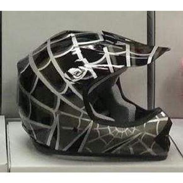 DOT Kids ATV - Dirt Bike - Motocross Helmets - Pink - Black - Blue - Red / SKU GRL-DOTATVKIDSSPIDER-HI