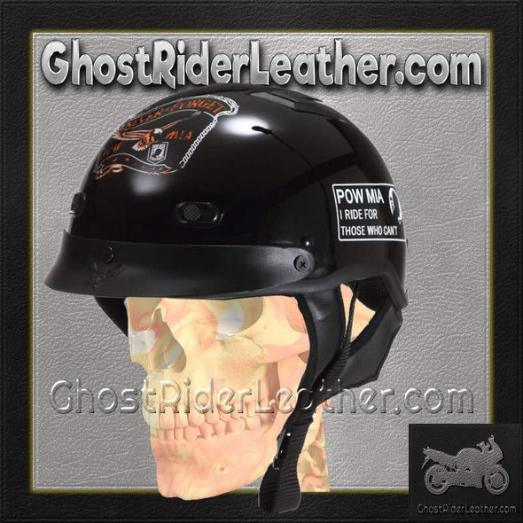 DOT POW MIA Motorcycle Helmet - Never Forget - SKU GRL-1VPOW-HI