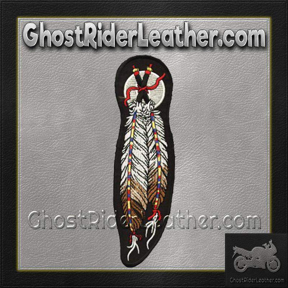 Dual Feather Motorcycle  Patch / SKU GRL-PAT-C209-DL