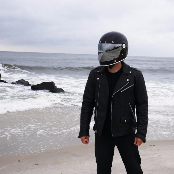 Enforcer - Men's Naked Leather Motorcycle Jacket - SKU FIM297CLMZ-FM