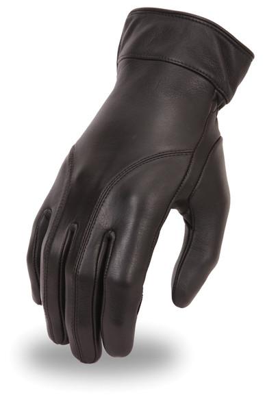 Leather Motorcycle Gloves - Women's - Gel Padding - Dame - FI114GEL-FM