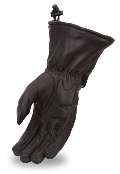 Women's Waterproof Leather Gauntlet Motorcycle Gloves - SKU FI119GEL-FM