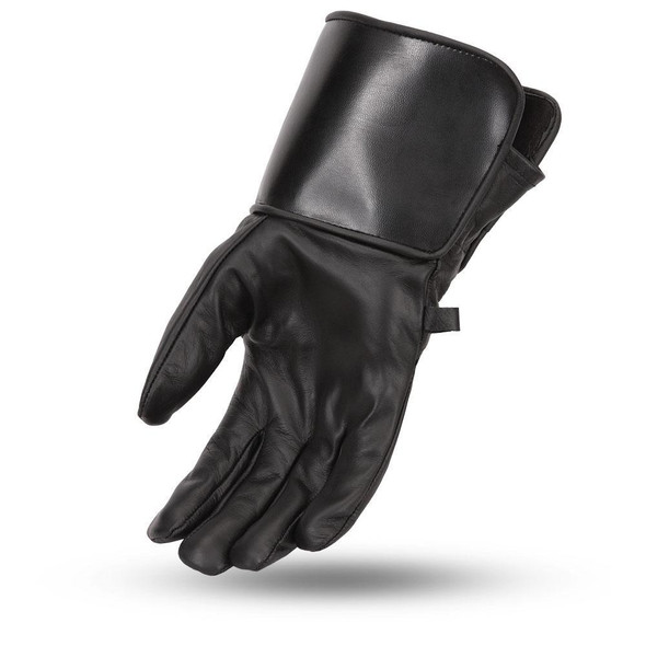 Men's Mid-Weight Lined Gauntlet Leather Motorcycle Gloves - SKU FI150GL-FM