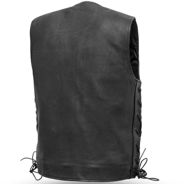 Gambler - Men's Leather Motorcycle Vest - Sizes Up To 8XL - SKU FIM618CFD-FM