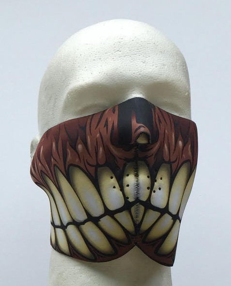 Gummy Face Neoprene Half Face Mask - Motorcycle Mask - GUMMYFACE-HI