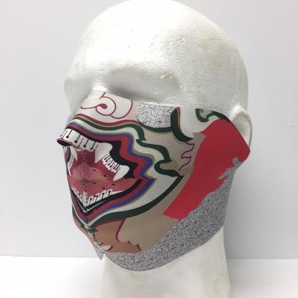 Hanuman Yellow Neoprene Half Face Mask - Motorcycle Mask - FMU37-HI