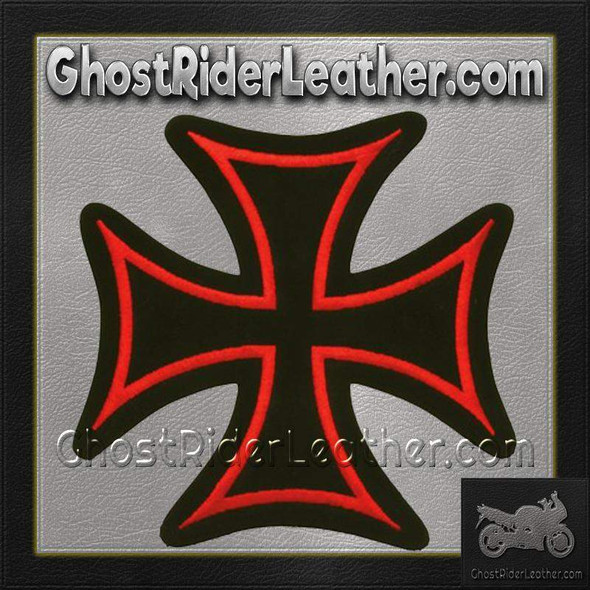 Iron Cross With Red Border Patch / SKU GRL-PAT-B126-DL