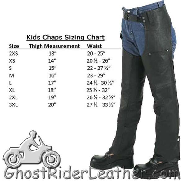 Kids Leather Chaps With Pocket / SKU KD360-DL