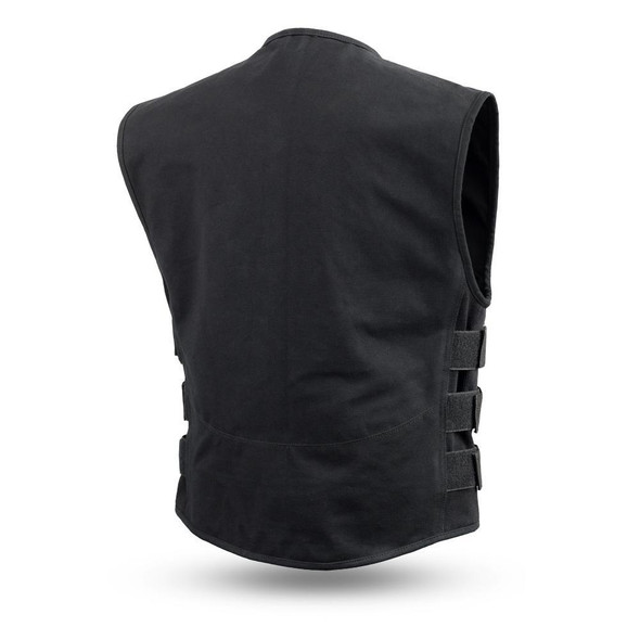 Knox - Men's Motorcycle SWAT Style Canvas Vest - SKU FIM660CNVS-FM