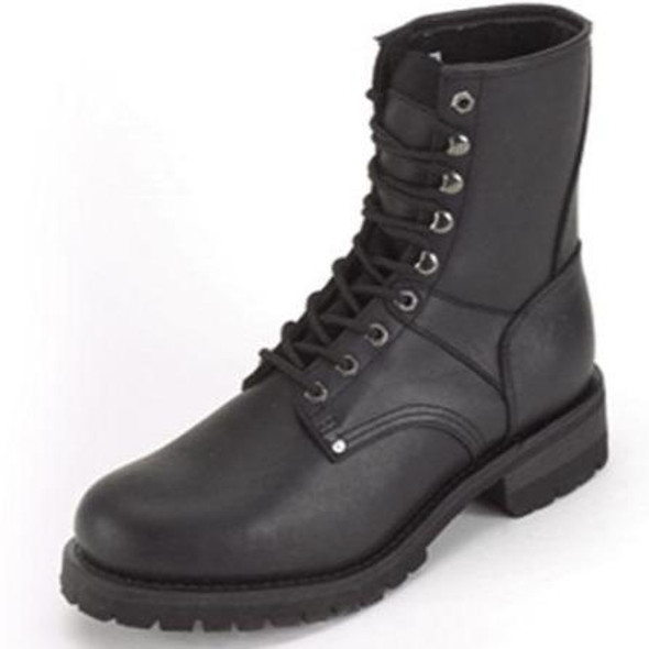 Leather Motorcycle Boots - Women's - Lace Up Front - S15-LADIES-DL