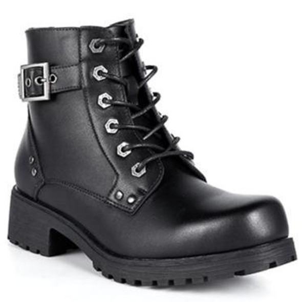 Ladies Motorcycle Boots With 6 Eyes and Side Zipper - SKU GRL-MR-BTL7000-DL
