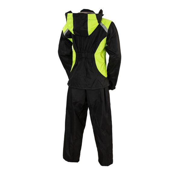 Ladies Motorcycle Rain Suit - Two Piece Waterproof - SKU ATL3071-FM