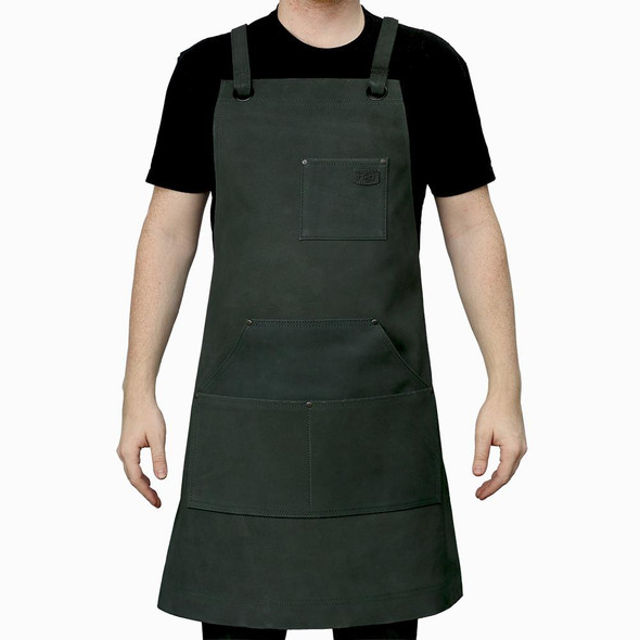 Machinist - Leather Apron With Four Pockets - Choice Of Colors - SKU FIAPRONSUEDE-FM
