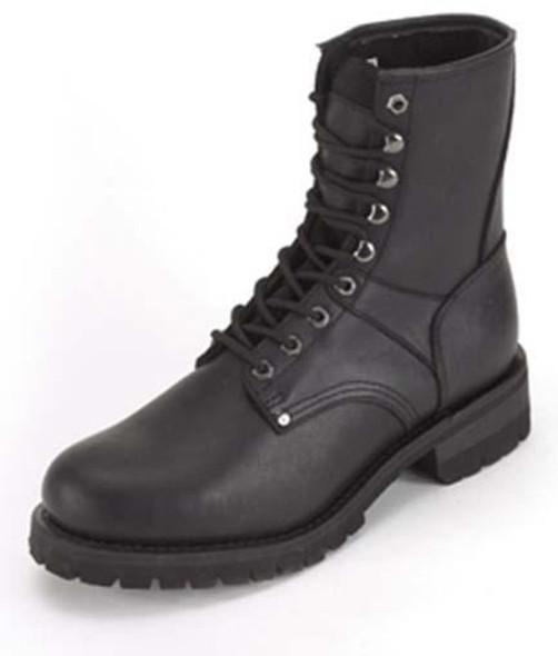 Leather Motorcycle Boots - Men's - Biker - Lace Up Front - S15-REG-DL