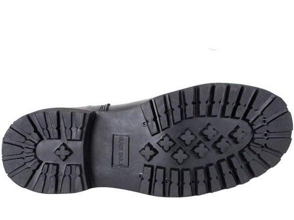 Leather Motorcycle Boots - Men's - Double Buckle - Wide Width - S15-EEE-DL
