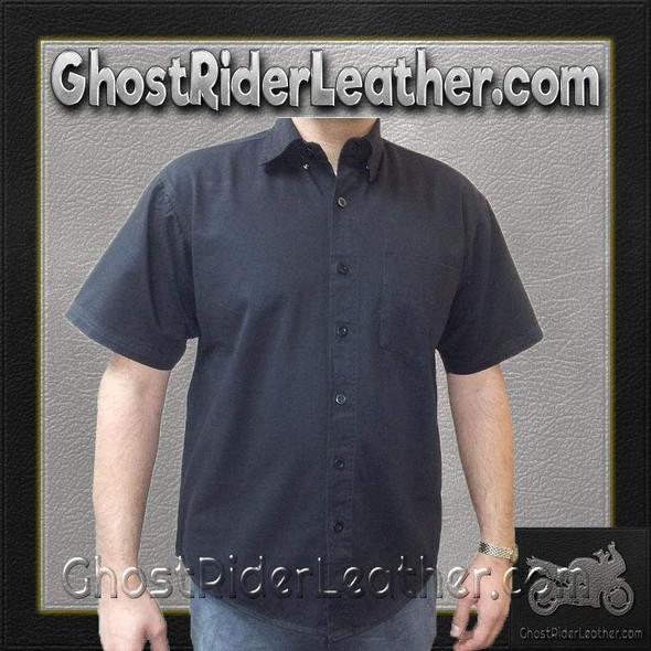 Men's Cotton Twill Mechanic Shirt With Snap Down Collar - AL2910-AL