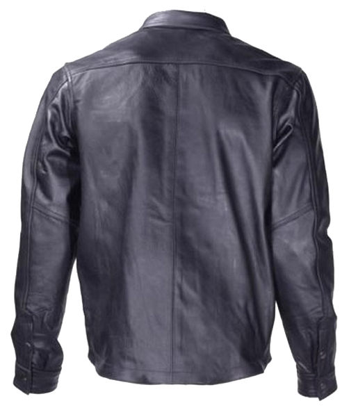 Men's Light Weight Leather Shirt - Summer Motorcycle Riding - MJ777-11L-DL