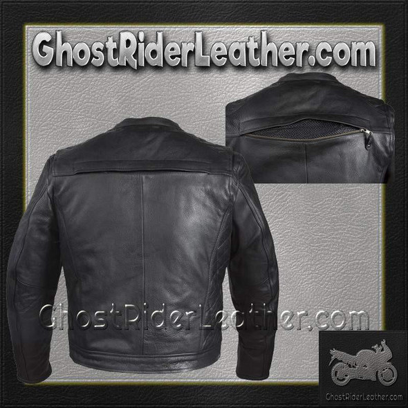 Mens Motorcycle Racer Jacket with Cool Diamond Pattern / SKU GRL-MJ821-DL