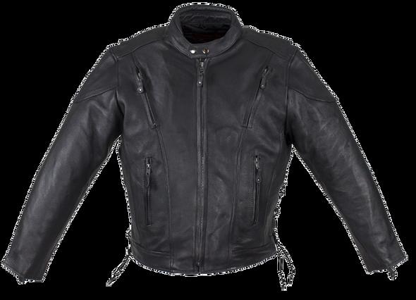 Men's Motorcycle Racer Jacket with Gun Pockets - SKU MR-MJ711-DL