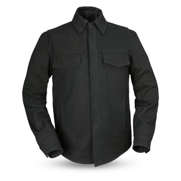 Men's Canvas Motorcycle Shirt - Mercer - Gun Pocket - FIM417CNVS-FM
