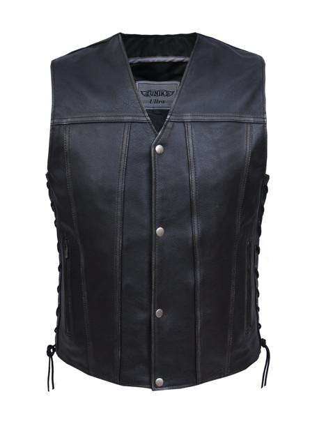 UNIK Men's Durango Gray Vest - SKU GRL-2611-AGR-UN