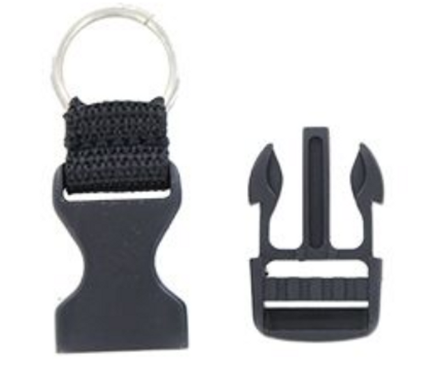 Universal Helmet Quick Release With Metal Ring - You Get Two - SKU HA31x2-DL