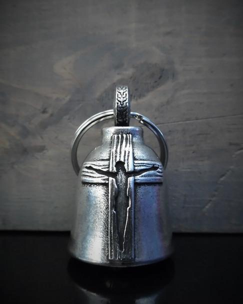 Jesus Cross - Pewter - Motorcycle Spirit Bell - Made In USA - SKU BB108-DS