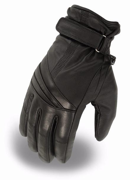Women's Waterproof Leather Driving Gloves - SKU FI121GL-FM