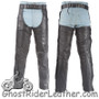 Premium Leather Chaps With Thigh Stretch for Men or Women - SKU C332-DL