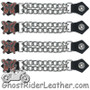 Set of Four Butterfly Vest Extenders with Chrome Chain - SKU GRL-AC1048-OS-DL