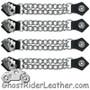 Set of Four Deadmans Hand Vest Extenders with Chrome Chain - SKU GRL-AC1046-DL