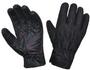 UNIK Full Finger Black Denim - Leather Reinforced Gloves with Red Stitching - SKU 8168-00-UN