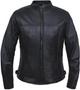 UNIK Ladies Premium Lightweight Leather Motorcycle Jacket - SKU 6557-NG-UN