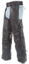 Mens Ladies Unisex Leather Chaps with Braid and Fringe - SKU GRL-C337-04-DL