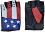 American Flag Riding Gloves - Fingerless Motorcycle Gloves - SKU 8199-USA-UN