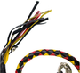 Get Back Whip in Black Yellow and Red Leather - Motorcycle Accessories - SKU GBW19-11-DL