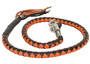 Get Back Whip in Black and Orange Leather - 42 Inches - SKU GBW9-11-DL