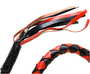 3 Inches Around - Get Back Whip in Black and Red Orange Leather - 42 Inches - SKU GBW9-11-T2-DL
