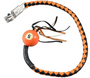 Get Back Whip in Black and Orange Leather With Pool Ball - 36 Inches - SKU GBW9-BB-36-DL