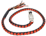 Get Back Whip in Black and Red Orange Leather - 50 Inches - SKU GBW9-11L-DL