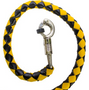 2 Inches Around - Get Back Whip in Black and Yellow Leather - 42 Inches - Motorcycle Accessories - SKU GBW8-11-T1-DL