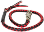 Get Back Whip - Black and Red Leather - 42 Inches - SKU GBW6-11-DL