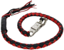 Get Back Whip - Black and Red Leather - 36 Inches - SKU GBW6-11S-DL