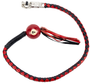 Get Back Whip - Black and Red Leather - With Pool Ball - 42 Inches - SKU GBW6-BB-DL