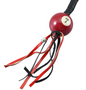 Get Back Whip - Black and Red Leather - With Pool Ball - 36 Inches - SKU GBW6-BB-36-DL