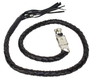 Get Back Whip - Black Leather - 50 Inches Long - SKU GBW1-11L-DL